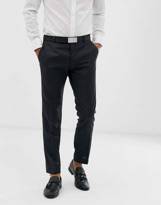 Calvin Klein textured slim fit trousers-Black