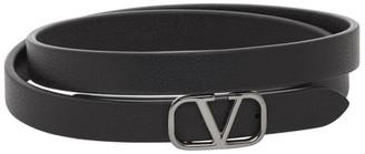 Valentino Black Garavani VLogo Bracelet