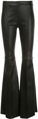 Rosetta Getty Leather Flared Trousers