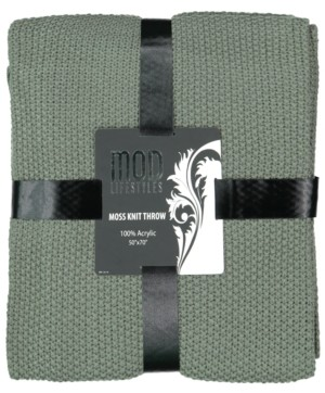 "Mod Lifestyles Classic Throw Collection Acrylic Moss Knit, 50"" X 70"""