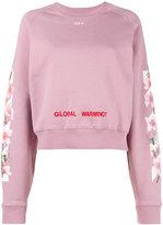 Off-White Pink Floral Global Warming Sweatshirt