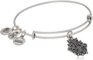 Alex and Ani Armenian Cross IV Rafaelian Silver Bangle Bracelet