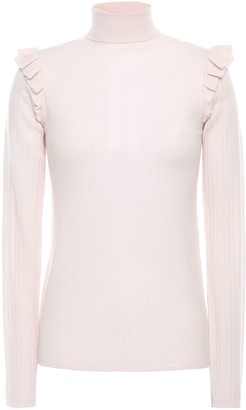 By Ti Mo Bytimo Ruffle-trimmed Wool Turtleneck Sweater