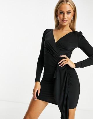 Ivyrevel Ivy Revel drape front dress in black