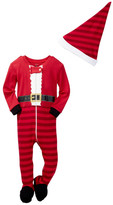 Petit Lem Santa Claus Sleeper & Hat Set (Baby)