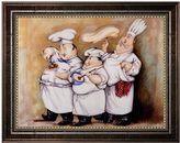KitchenArt ''Haute Cuisine I'' Framed Canvas Wall Art by Tracy Flickinger