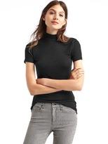 Gap Cozy modal short sleeve mockneck top