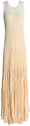 Chloé Two-tone Cotton Maxi Dress