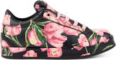 Dolce & Gabbana Tulip print leather sneakers