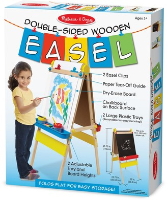 Melissa & Doug Double-Sided Wooden Art Easel