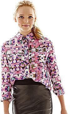 Nanette Lepore L AMOUR BY LAmour Button-Front Shirt