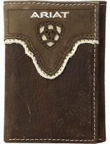 Ariat Shield Cut Out Overlay Trifold Wallet