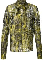 Plein Sud Jeans animal print blouse