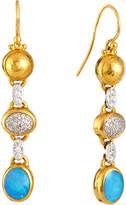 Gurhan Amulet Hue Diamond & Opal Drop Earrings