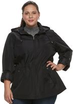 Croft & Barrow Plus Size ̈ Hooded Roll-Tab Anorak Jacket