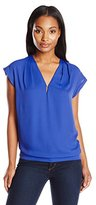 Anne Klein Women's V-Neck Blouse