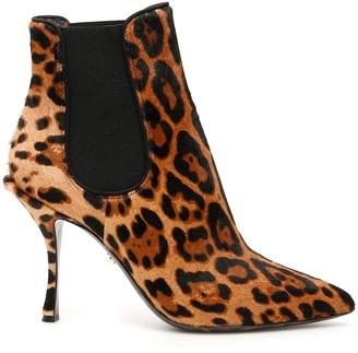 Dolce & Gabbana animalier lori ankle boots