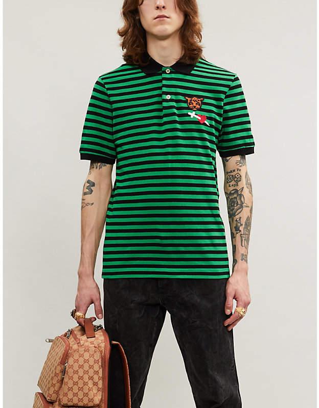 ee539527a6a2 Gucci Pique Polo - ShopStyle UK