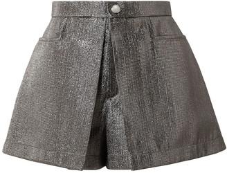 Chloé Pleated Lame Shorts