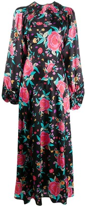 The Attico Floral Print Maxi Dress