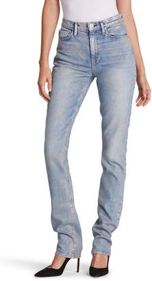Hudson Jeans Holly Ripped High Waist Straight Leg Jeans