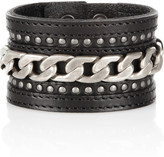 Isabel Marant Good Daughters leather and chain cuff