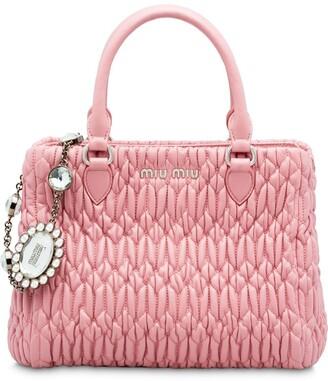 Miu Miu Cloque nappa leather bag