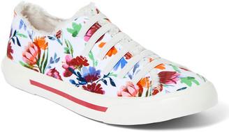 Rocket Dog Women's Sneakers WHITE - White Floral Jokes Slip-On Sneaker - Women
