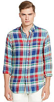 Polo Ralph Lauren Plaid Linen Long-Sleeve Woven Shirt