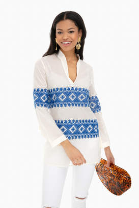 Tory Burch Stephanie Embroidered Tunic