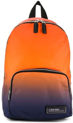 Calvin Klein Gradient Logo Plaque Backpack