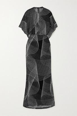Norma Kamali Obie Printed Stretch-jersey Maxi Dress - Black