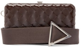 Bottega Veneta Intrecciato-woven Leather Clutch Bag - Womens - Brown