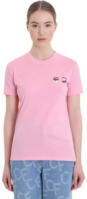 Chiara Ferragni T-shirt In Rose-pink Cotton