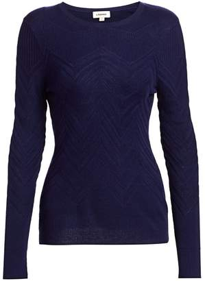 L'Agence Suka Chevron-Knit Sweater
