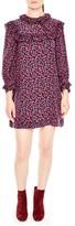 Sandro Women's Ruffle Floral Print Silk Shift Dress