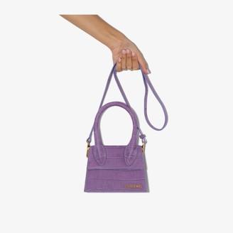 Jacquemus purple Le Chiquito Moyen leather tote bag