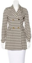 Tory Burch Patterned Double-Breasted Coat