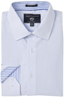 Report Collection Modern Fit Dobby Dress Shirt