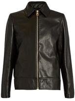 Lanvin Point-collar leather jacket