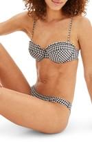 Topshop Women's Ruffle Gingham Bikini Top