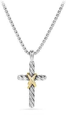 David Yurman Cable Collectibles X Cross Necklace With 14K Gold