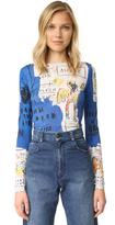 Alice + Olivia AO X Basquiat Long Sleeve Crop Top
