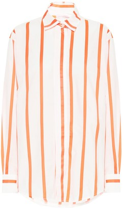 Victoria Beckham Striped cotton-blend shirt