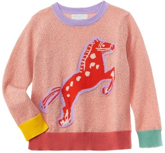 Stella McCartney Lurex Intarsia Horse Sweater