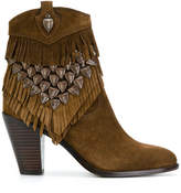 Ash tassel ankle boots