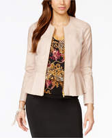 Thalia Sodi Faux-Leather Peplum Jacket, Created for Macy's