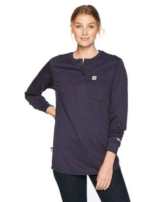 Carhartt Flame Resistant Womens Force Cotton Long Sleeve Henley