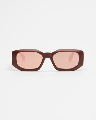 Le Specs Women's Red Rectangle - Sustain - Grass Half Full - Size One Size at The Iconic