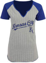 Majestic Women's Kansas City Royals From The Stretch Pinstripe T-Shirt